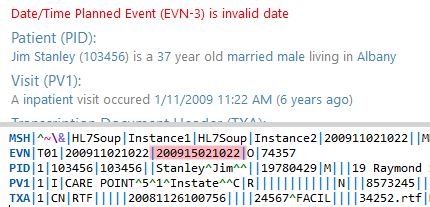 Invalid date validation